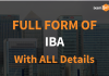 Full Form of IBA