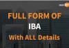 Full Form of IBA