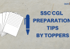 SSC CGL Preparation Tips by Toppers