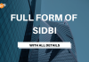 Full Form of SIDBI with all details