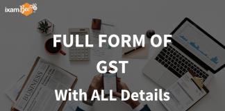 Full Form of GST