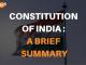 Constitution of India: a brief summary