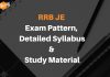 RRB JE 2019 Exam pattern, Detailed Syllabus and Study Material