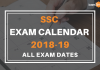 SSC Calendar 2018-19; All Revised Exam Dates