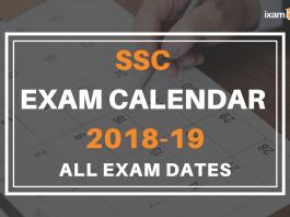 SSC Calendar 2018-19; All Revised Exam Dates