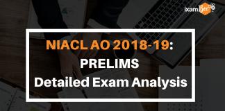 NIACL AO 2018-19 Prelims Detailed Exam Analysis