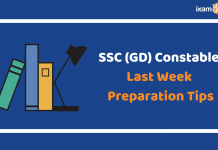SSC (GD) Consatble Exam 2019: Last Week Preparation Tips