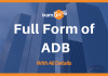 Full Form of ADB With All Details