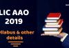 LIC AAO Complete Syllabus