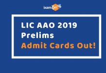 LIC AAO Admit Cards