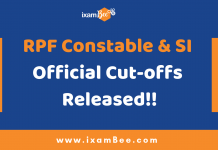 RPF Constable & SI Cut-offs