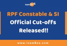 RPF Constable & SI Cut-offs