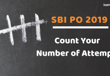 SBI PO Number of Attempts
