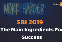 SBI PO& Clerk: The Main Ingredient for Success