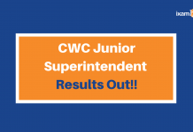 CWC Junior Sup Results