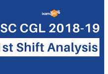 SSC CGL First Shift Analysis