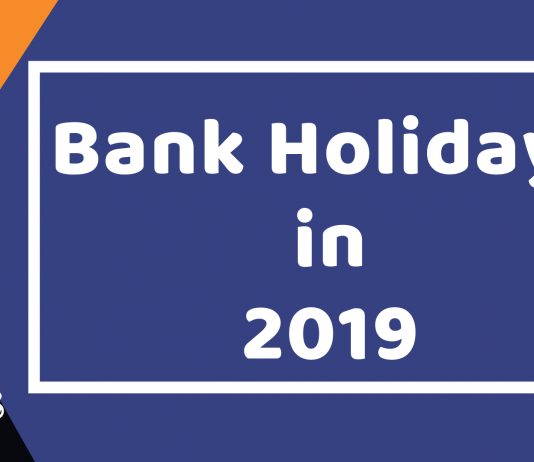 Bank Holidays in 2019