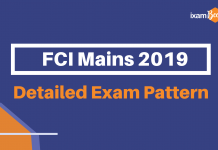 FCI Mains Exam Pattern