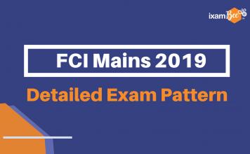 FCI Mains Exam Pattern