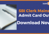Download SBI Clerk Mains Admit Card