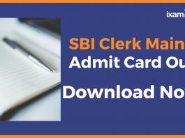Download SBI Clerk Mains Admit Card
