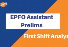 EPFO Assistant Prelims Analysis