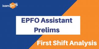 EPFO Assistant Prelims Analysis