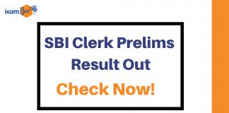 sbi clerk pre result