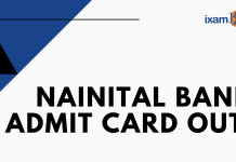 Nainital Bank Admit Card Out