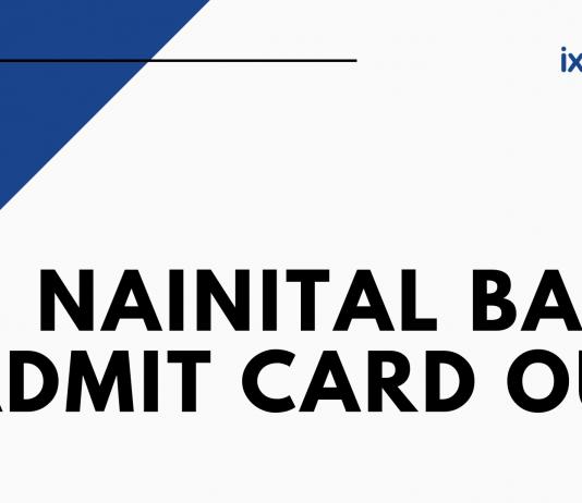 Nainital Bank Admit Card Out