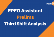 EPFO Assistant Prelims 3rd shift analysis