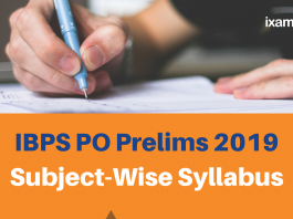 IBPS PO Prelims Subject-wise Syllabus