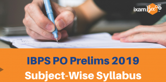 IBPS PO Prelims Subject-wise Syllabus