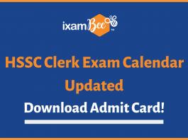 hssc clerk exam dates & admit card