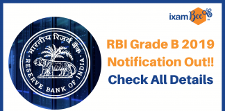 RBI 2019 Exam Notification
