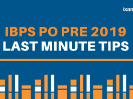 IBPS PO Prelims Last Minute Preparation Tips