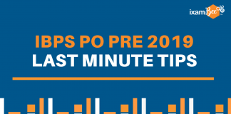 IBPS PO Prelims Last Minute Preparation Tips