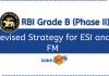 RBI Grade B 2021 ESI and FM