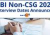 RBI Non-CSG 2020-21 Interview Dates