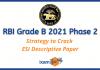 RBI Grade B 2021 Phase 2 ESI Descriptive