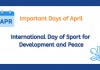 Important Days of April