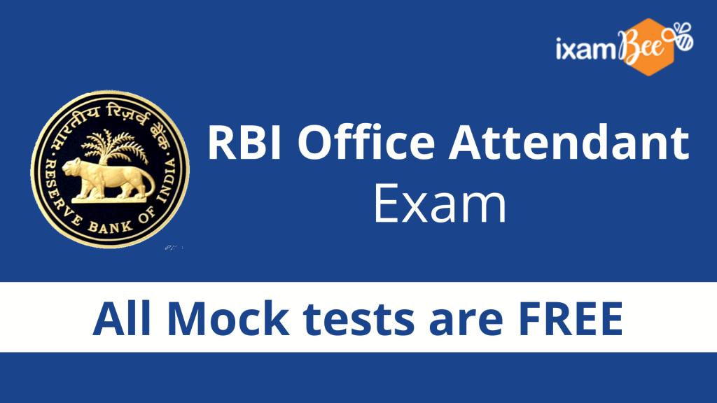 RBI Office Attendant Exam Free Mock Test