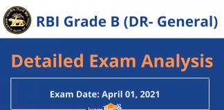 RBI Grade B (DR-General) Exam Analysis 2021