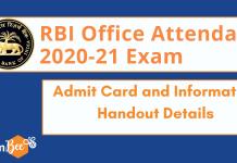 RBI Office Attendant