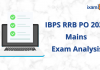 IBPS RRB PO 2020 Mains Exam Analysis. Officer Scale 1
