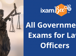 All Government Exams for Law Officers.