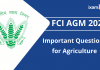FCI AGM 2021: Important Questions for Agriculture.