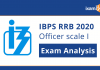 IBPS RRB Officer Scale 1 2020 Exam Analysis.