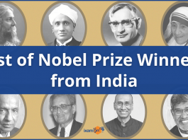 List of Nobel Prize Winners from India. Trivia and More.
