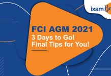 FCI AGM 2021: Last Minute Tips. Preparation Tips- Dos and Don'ts.